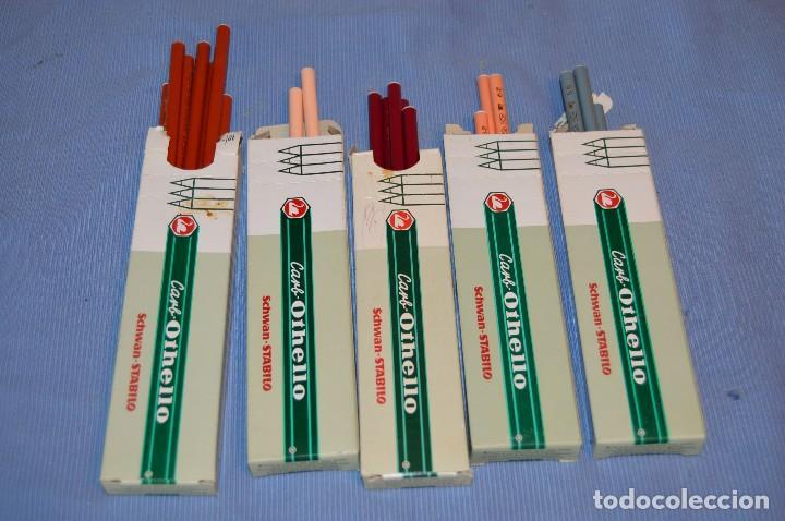 Escribanía: Lote de lápices SCHWAN STABILO OTHELLO 1400 - 5 Colores ¡Mira! - Acepto ofertas - Foto 2 - 95593035