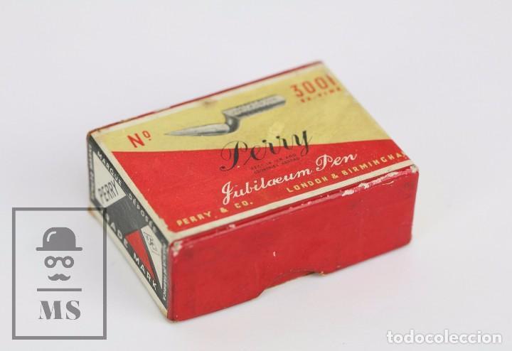 Escribanía: Antigua Caja de Plumillas Llena - Perry. Jubilaeum Pen 3001 - Londres, Birmingham - Foto 2 - 95814543