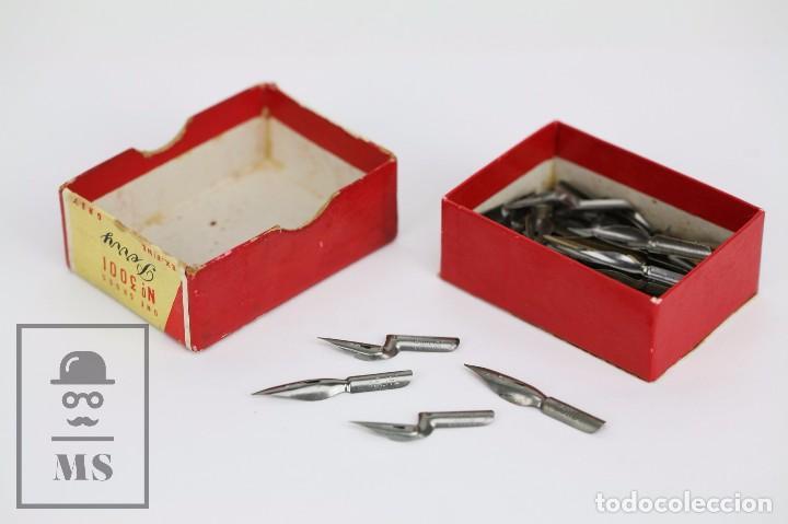 Escribanía: Antigua Caja de Plumillas Llena - Perry. Jubilaeum Pen 3001 - Londres, Birmingham - Foto 3 - 95814543