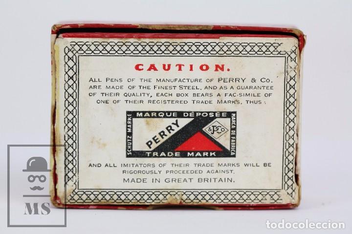 Escribanía: Antigua Caja de Plumillas Llena - Perry. Jubilaeum Pen 3001 - Londres, Birmingham - Foto 5 - 95814543