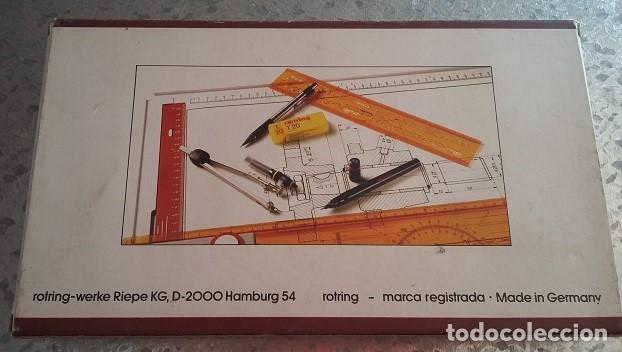 Escribanía: Rotring college set. Tres estilografos con punta y mango, y portaminas años 80. A estrenar - Foto 4 - 97012355