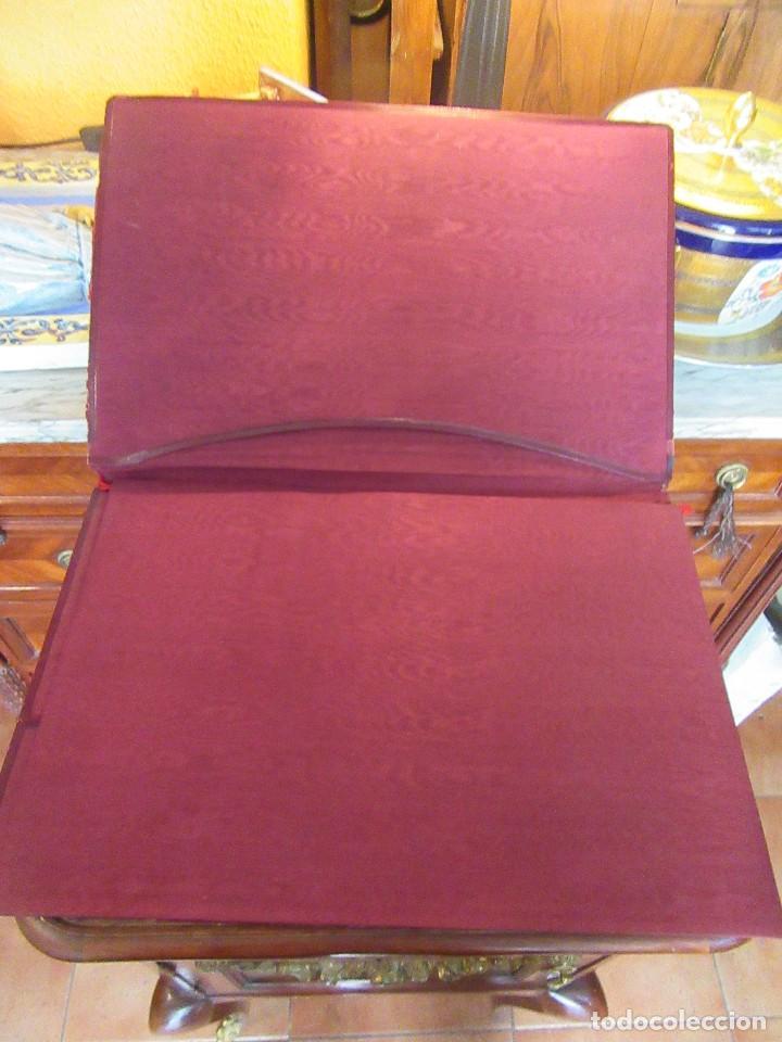 Escribanía: ANTIGUA CARPETA SOBREESCRITORIO CON PAPEL SECANTE Y DOCUMENTO EXCOMUNION - Foto 2 - 97234403