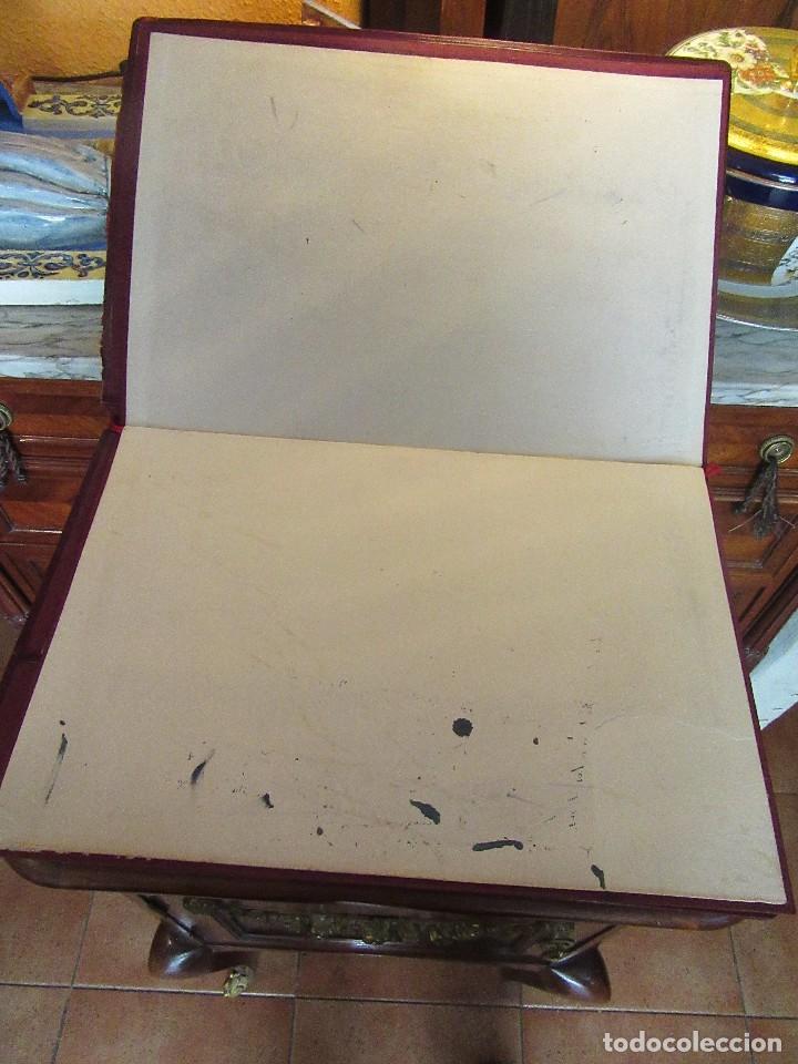Escribanía: ANTIGUA CARPETA SOBREESCRITORIO CON PAPEL SECANTE Y DOCUMENTO EXCOMUNION - Foto 3 - 97234403