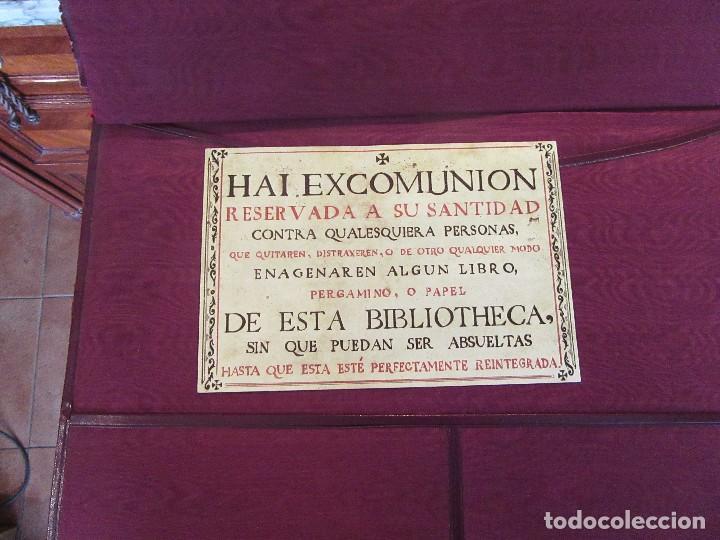 Escribanía: ANTIGUA CARPETA SOBREESCRITORIO CON PAPEL SECANTE Y DOCUMENTO EXCOMUNION - Foto 5 - 97234403