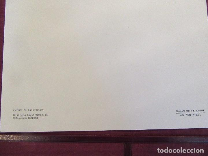 Escribanía: ANTIGUA CARPETA SOBREESCRITORIO CON PAPEL SECANTE Y DOCUMENTO EXCOMUNION - Foto 6 - 97234403