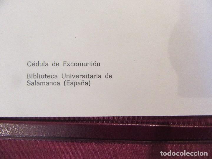 Escribanía: ANTIGUA CARPETA SOBREESCRITORIO CON PAPEL SECANTE Y DOCUMENTO EXCOMUNION - Foto 7 - 97234403
