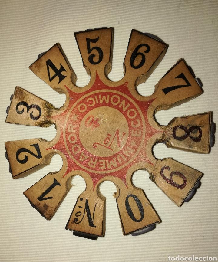 Escribanía: Antiguo Tapón Numérador Económico. - Foto 2 - 103633304