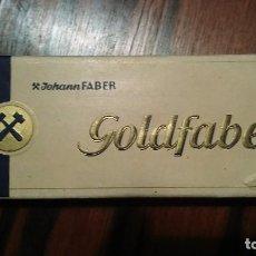 Escribanía: LAPICES JOHANNES FABER GOLDFABER N° 871 COLOR AZUL FORMATO JUMBO AÑO 1940 ALEMANIA. Lote 103746615