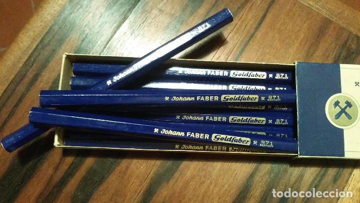 Escribanía: Lapices Johannes Faber Goldfaber N° 871 Color Azul Formato Jumbo Año 1940 Alemania - Foto 6 - 103746615