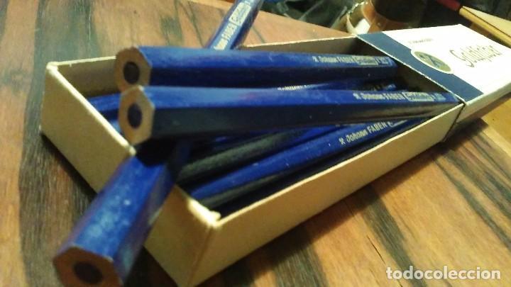 Escribanía: Lapices Johannes Faber Goldfaber N° 871 Color Azul Formato Jumbo Año 1940 Alemania - Foto 7 - 103746615