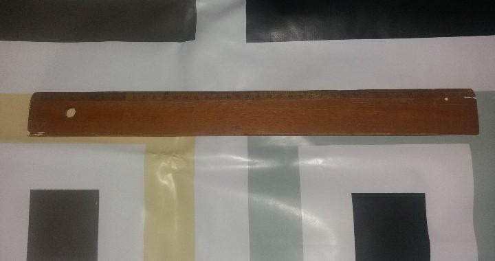Escribanía: Papelería antigua. Reglas, lote de varias antiguas, con marcas de España, Francia, Reino Unido - Foto 5 - 87187312