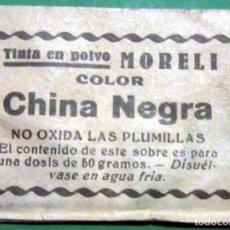 Escribanía: CHINTA CHINA MORELI COLOR NEGRO SOBRE SIN USAR LOTE 3 AÑOS 30-40. Lote 105334947