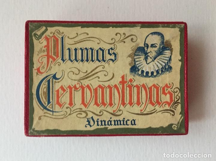 CJA DE PLUMILLAS CERVANTINAS DINÁMICA. 1941.100 PLUMILLAS. CAJA COMPLETA SIN ABRIR. (Plumas Estilográficas, Bolígrafos y Plumillas - Plumillas y Otros Elementos de Escribanía)