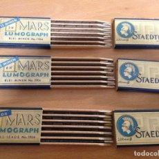 Escribanía: LUMOGRAPH MARS STAEDLER 3 ESTUCHES DE MINAS. Lote 107663091