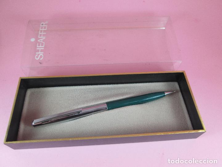 Escribanía: N4242-PORTAMINAS SHEAFFER stylist-VERDE+ACERO-CAJA original-antiguo-nos-ver fotos. - Foto 2 - 28345612