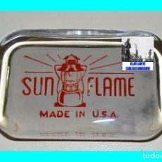 Escribanía: SUN FLAME - PISAPAPELES PUBLICITARIO DE CRISTAL - ORIGINAL USA AÑOS 50 - EXCELENTE - MUY RARO. Lote 108253767