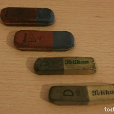 Escribanía: LOTE 4 GOMAS DE BORRAR - GOMA DE BORRAR PELIKAN D50 Y BR 40. Lote 108288891