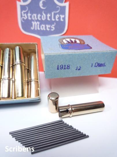 Escribanía: J.S. STAEDTLER 1662 CAJA CON 12 TUBOS METALICOS CON 12 MINAS GRAFITO CADA UNO 1,18 MM. 1920S - Foto 8 - 111538054