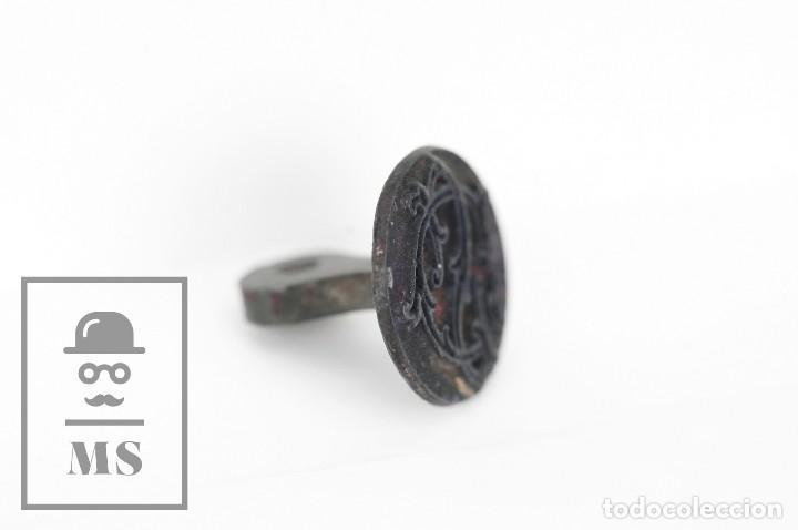 Escribanía: Antiguo Sello de Metal - Siglas S C - Diámetro 22 mm - Foto 2 - 112294767