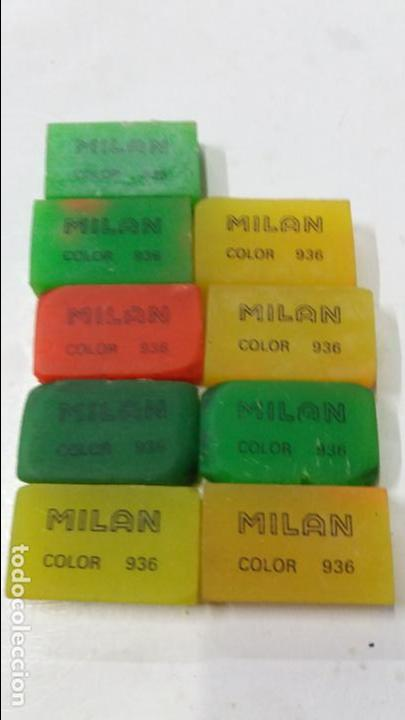 LOTE DE 9 BORRA GOMAS MILAN COLOR 936 (Plumas Estilográficas, Bolígrafos y Plumillas - Plumillas y Otros Elementos de Escribanía)