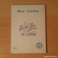 Escribanía: BLOC PARA ESCRIBIR CARTAS EL CISNE. MARCA CINCA. 40 HOJAS LISAS. AÑOS 70. AZUL.. Lote 115386415