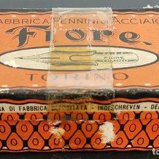Escribanía: CAJA ORIGINAL CON 144 PLUMINES FIORE. TORINO. ACCIAIO. ITALIA. SIGLO XX. . Lote 115578823