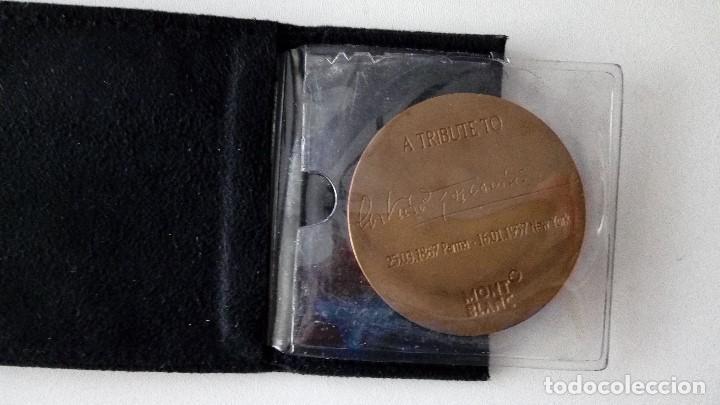 Escribanía: MONTBLANC CARTERA CON MEDALLA DE COLECCION,A TRIBUTE TO 25.03.1867 PARMA 16.01.1957 NEW YORK - Foto 10 - 116780723