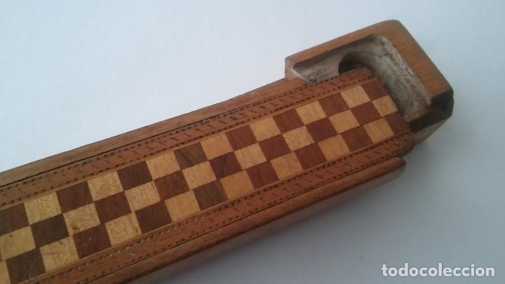 Escribanía: Plumier estuche escolar años 30 en madera marqueteria, diseño dificil raro de encontrar antiguo s XX - Foto 3 - 117485267