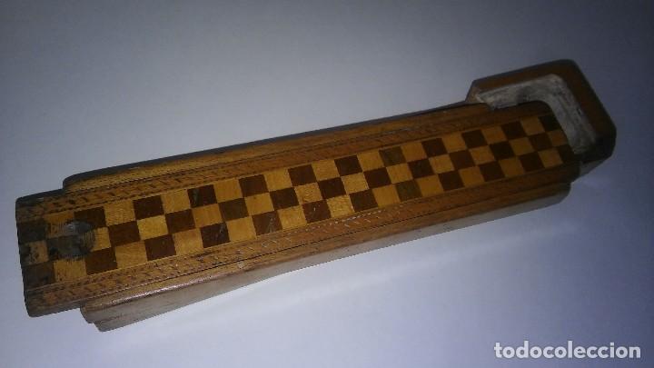 Escribanía: Plumier estuche escolar años 30 en madera marqueteria, diseño dificil raro de encontrar antiguo s XX - Foto 6 - 117485267