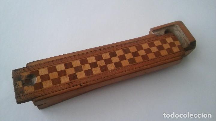 Escribanía: Plumier estuche escolar años 30 en madera marqueteria, diseño dificil raro de encontrar antiguo s XX - Foto 7 - 117485267
