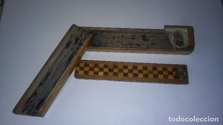 Escribanía: Plumier estuche escolar años 30 en madera marqueteria, diseño dificil raro de encontrar antiguo s XX - Foto 10 - 117485267