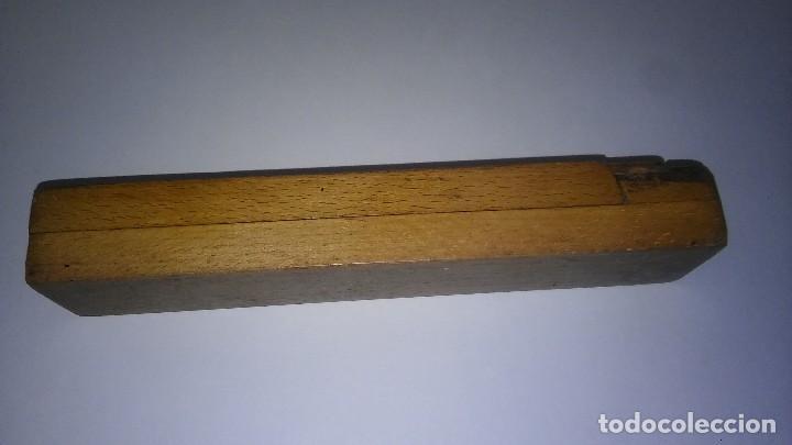 Escribanía: Plumier estuche escolar años 30 en madera marqueteria, diseño dificil raro de encontrar antiguo s XX - Foto 11 - 117485267