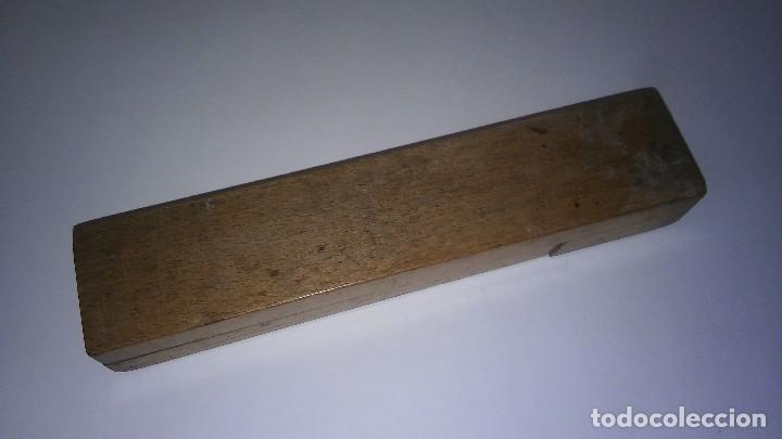 Escribanía: Plumier estuche escolar años 30 en madera marqueteria, diseño dificil raro de encontrar antiguo s XX - Foto 12 - 117485267