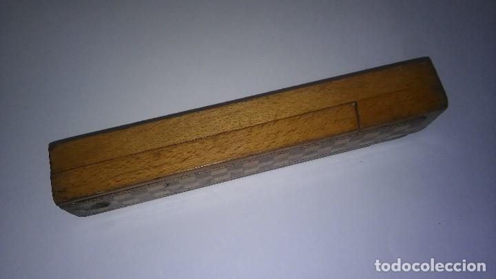 Escribanía: Plumier estuche escolar años 30 en madera marqueteria, diseño dificil raro de encontrar antiguo s XX - Foto 13 - 117485267