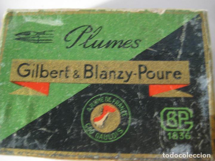 CAJA DE PLUMILLAS PLUMAS GILBERT & BLANZY-POURE, MODELO L´AMBASSADRICE (Plumas Estilográficas, Bolígrafos y Plumillas - Plumillas y Otros Elementos de Escribanía)