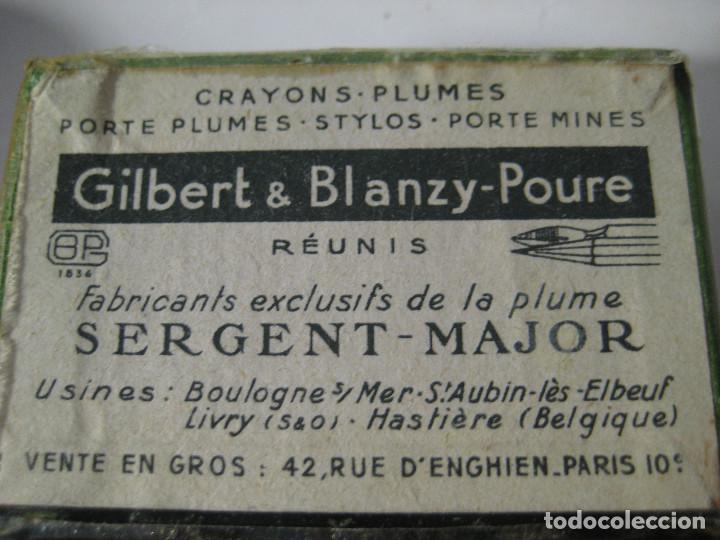 Escribanía: CAJA DE PLUMILLAS PLUMAS GILBERT & BLANZY-POURE, MODELO L´AMBASSADRICE - Foto 4 - 119583975