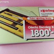 Escribanía: CAJA-ESTILOGRAFOS-ROTRING VARIANTA 1982-2 ESTILOS+PORTAMINAS-NEGROS-DE LOS BUENOS-NOS-VER FOTOS. Lote 217506228