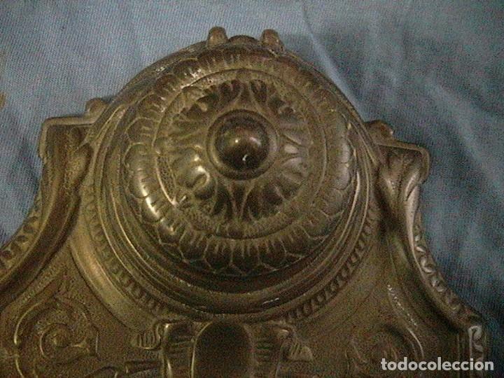 Escribanía: escribanía tintero pluma porcelana bronce - Foto 5 - 123237863
