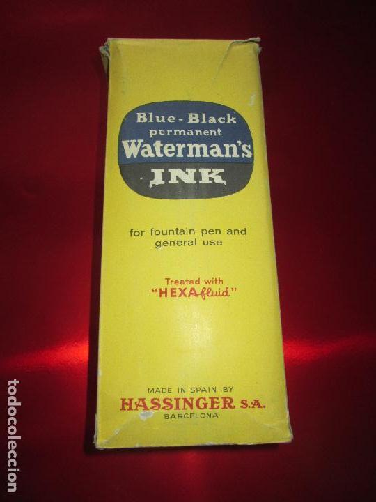 Escribanía: 5034-botella-tinta waterman´s-1 litro-azul/negro-hassinger(barcelona)-nos-aplicador-buen estado - Foto 15 - 124588535