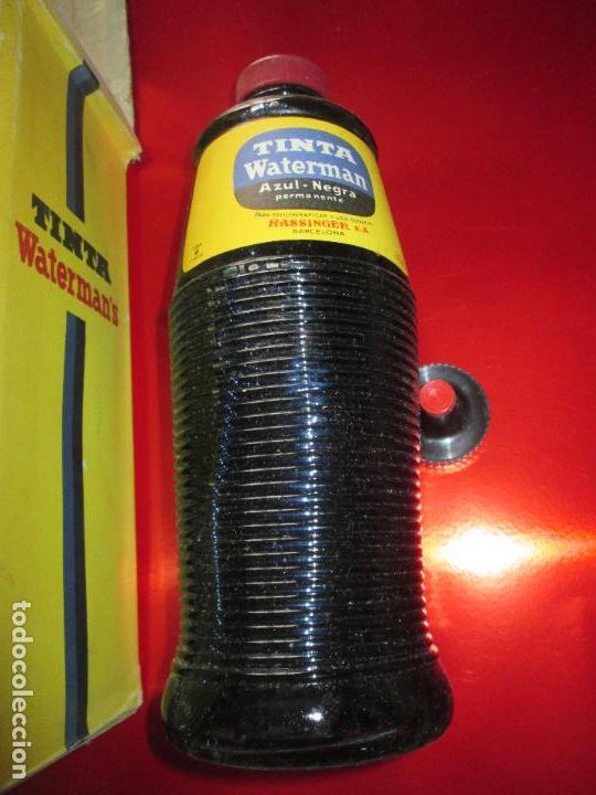 Escribanía: 5034-botella-tinta waterman´s-1 litro-azul/negro-hassinger(barcelona)-nos-aplicador-buen estado - Foto 4 - 124588535