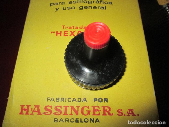 Escribanía: 5034-botella-tinta waterman´s-1 litro-azul/negro-hassinger(barcelona)-nos-aplicador-buen estado - Foto 8 - 124588535