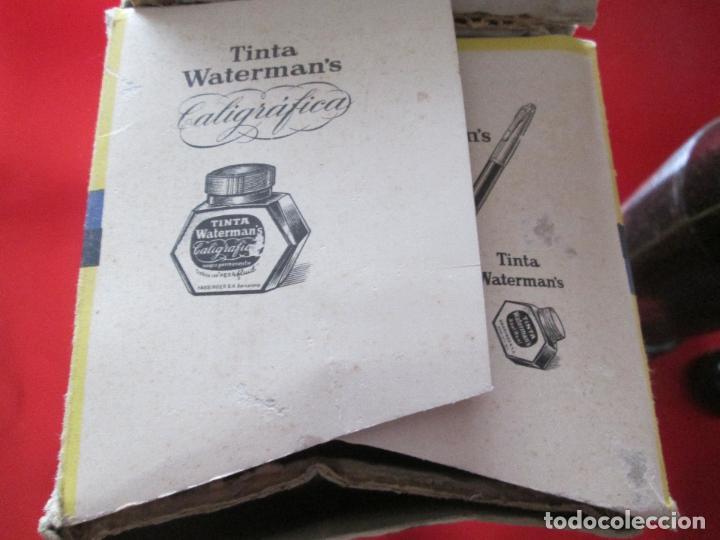 Escribanía: 5034-botella-tinta waterman´s-1 litro-azul/negro-hassinger(barcelona)-nos-aplicador-buen estado - Foto 10 - 124588535