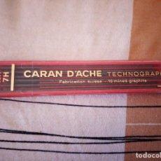 Escribanía: CARAN D'ACHE TECHNOGRAPH MINA GRAFITO 7 HB (CAJA DE 12) ANTIGUA.. Lote 125852951