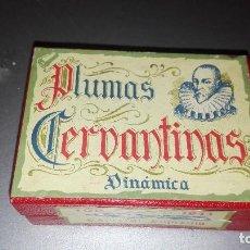 Escribanía: CAJITA PLUMAS CERVANTINAS DINÁMICA. Lote 126369547