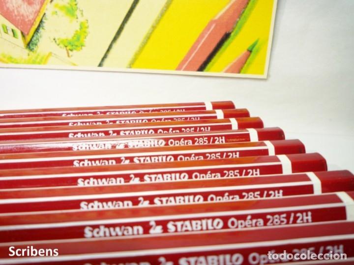 Escribanía: SCHWAN, CAJA CON 12 LÁPICES GRAFITO 2H STABILO ÓPERA 285. GERMANY - Foto 4 - 123550915