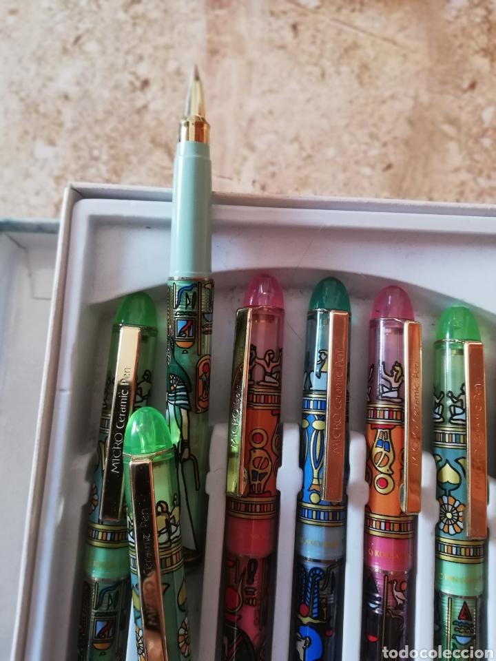 Escribanía: 12 bolígrafos del modelo egipcio de micro cerámica - Foto 3 - 174431187