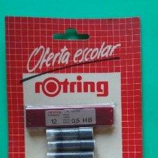 Escribanía: ROTRING BLISTER DE MINAS, GOMA Y CARTUCHOS DE TINTA AÑOS 80. Lote 128938591