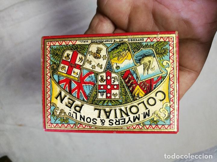 Escribanía: Caja original The Colonial Pen M.MYERS & SON..ENGLAND ...VICTORIANA ...PLUMILLAS - Foto 7 - 131680530