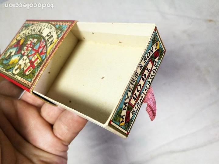 Escribanía: Caja original The Colonial Pen M.MYERS & SON..ENGLAND ...VICTORIANA ...PLUMILLAS - Foto 8 - 131680530