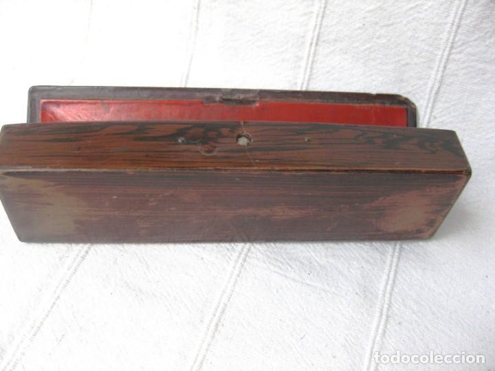 Escribanía: PLUMIER ANTIGUO, LACADO 20 CMS X 5,5 PRECIOSO - Foto 6 - 132068546